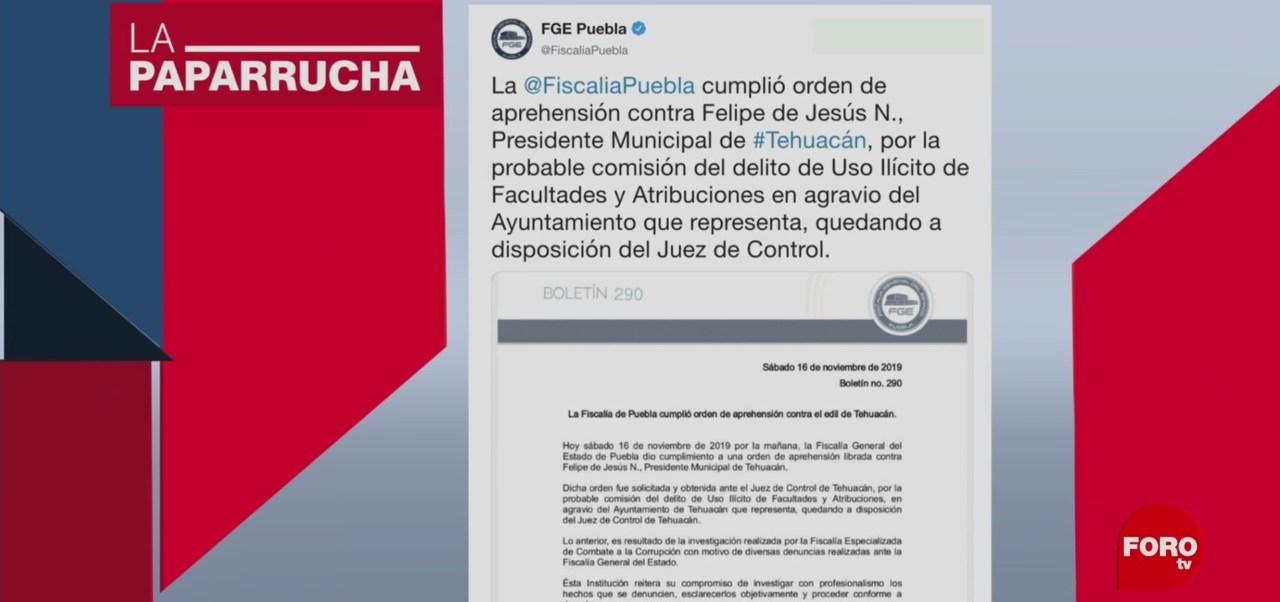 FOTO:Detención de alcalde de Tehuacán antes de su boda, en la paparrucha, 18 noviembre 2019