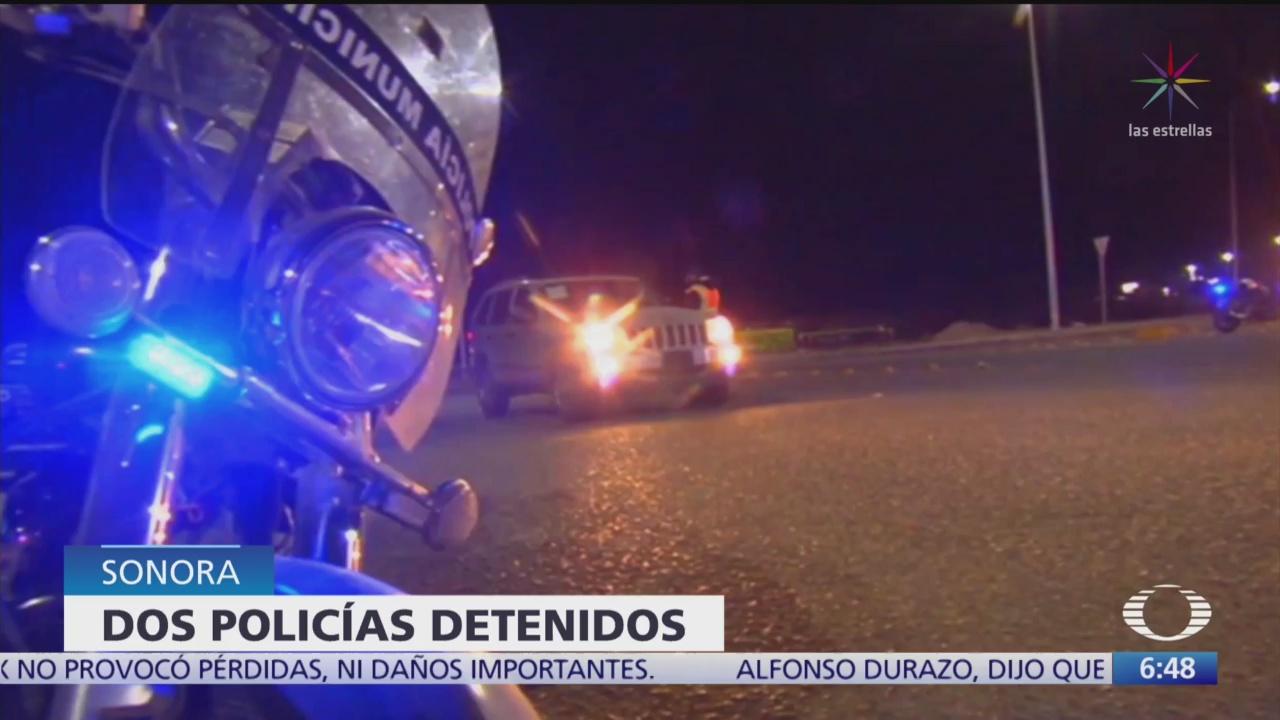 Detienen a 2 policías de Hermosillo acusados de violación - Noticieros Televisa