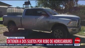 FOTO: Detienen a dos sujetos armados por robo de hidrocarburo, 16 noviembre 2019