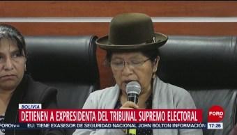 FOTO: Detienen a expresidenta del Tribunal Supremo Electoral de Bolivia, 10 noviembre 2019