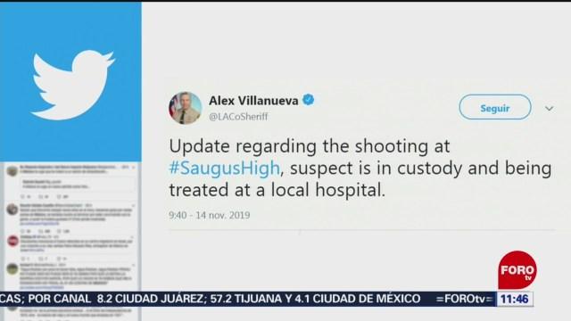 Detienen a sospechoso del tiroteo en secundaria de Santa Clarita, California
