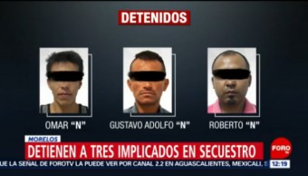 FOTO: Detienen a tres presuntos secuestradores del exrector de la UAEM, 16 noviembre 2019