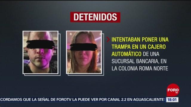 FOTO: Detienen a venezolanos que ponían trampas en cajeros de CDMX, 24 noviembre 2019