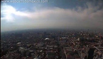 FOTO Día festivo con inversión térmica en el Valle de México (@webcamsdemexico)