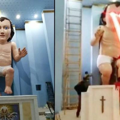 Imágenes: Crean Niño Dios gigante de Zacatecas; desata memes en redes sociales