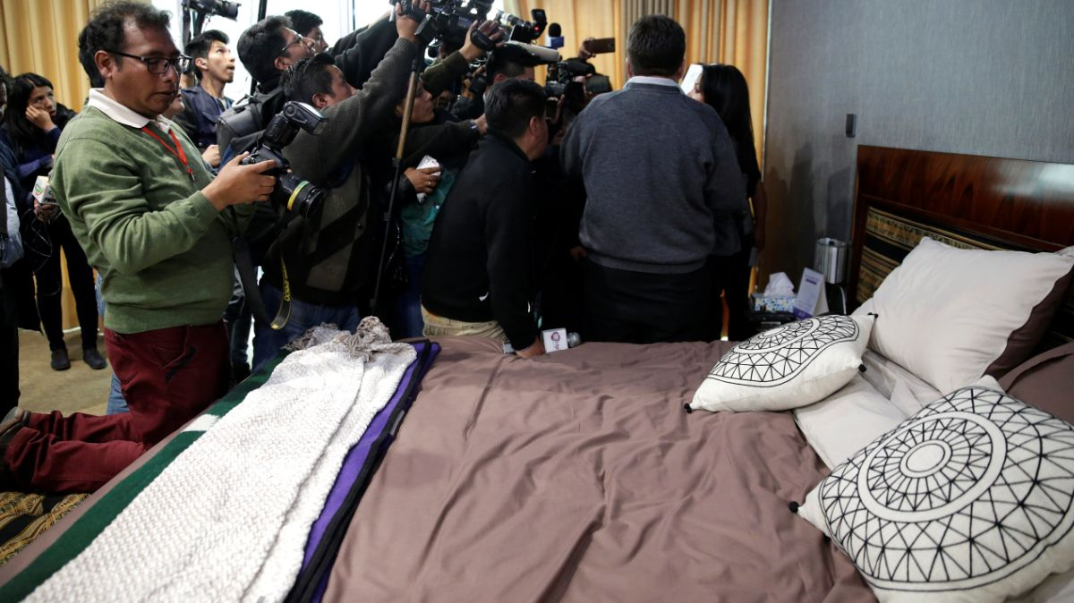 Dormitorio del expresidente Evo Morales