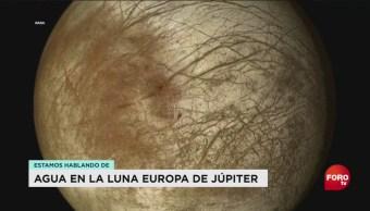 FOTO: agua luna Júpiter Europa podría significar vida,