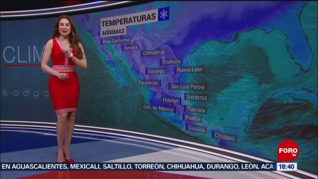 FOTO:El clima con Mayté Carranco del 28 de septiembre de 2019, 28 noviembre 2019