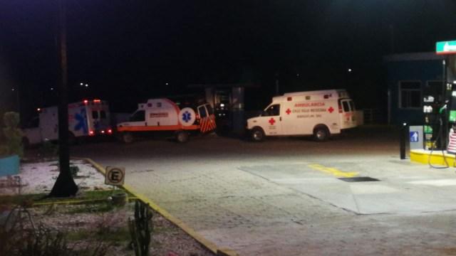 Foto: Emboscada en Oaxaca deja 5 policías muertos, 8 de noviembre de 2019, (Twitter @GPS_noticias)