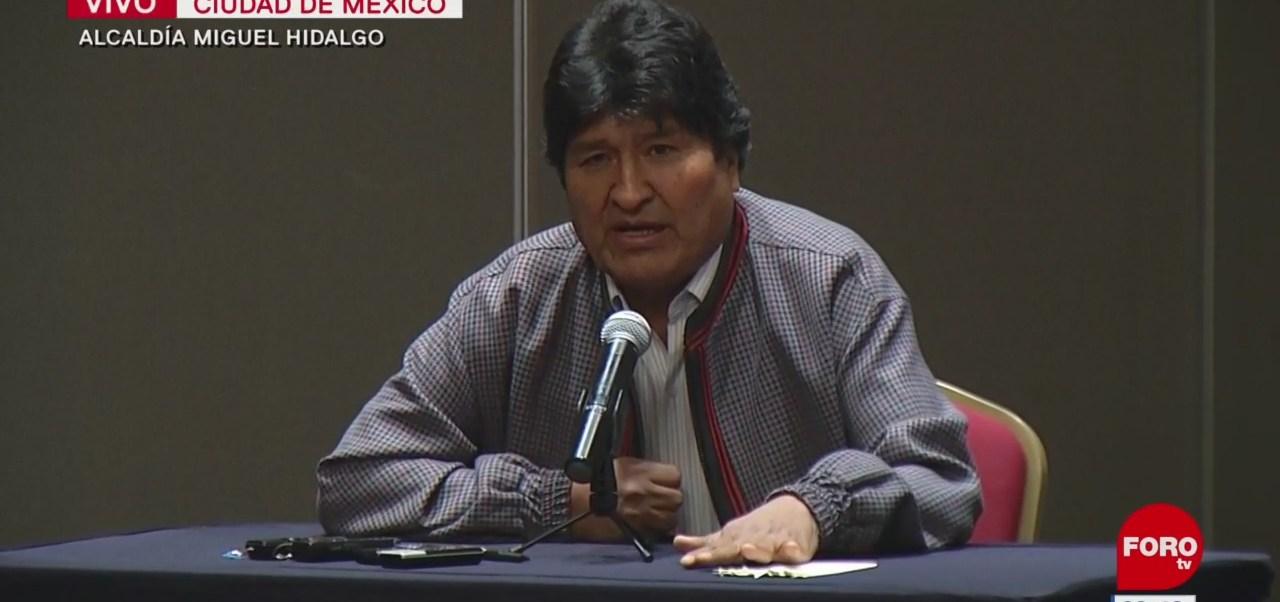 En Bolivia están matando a mis hermanos y hermanas, dice Evo Morales