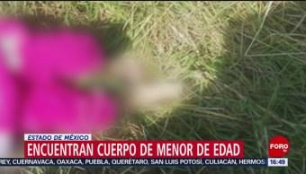 FOTO: Encuentran cuerpo de menor de edad en Chalco, en el Edomex, 10 noviembre 2019