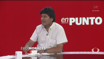 FOTO: Entrevista completa de Evo Morales con Denise Maerker, 14 noviembre 2019