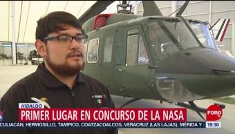 FOTO:Estudiantes de Hidalgo ganan premio dado por la NASA, 9 noviembre 2019
