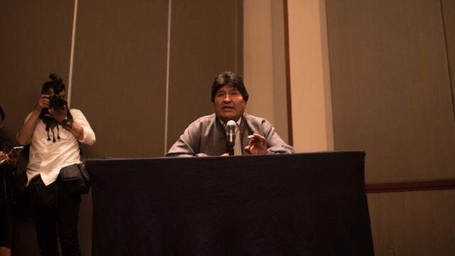 Evo Morales ofreció una conferencias de prensa