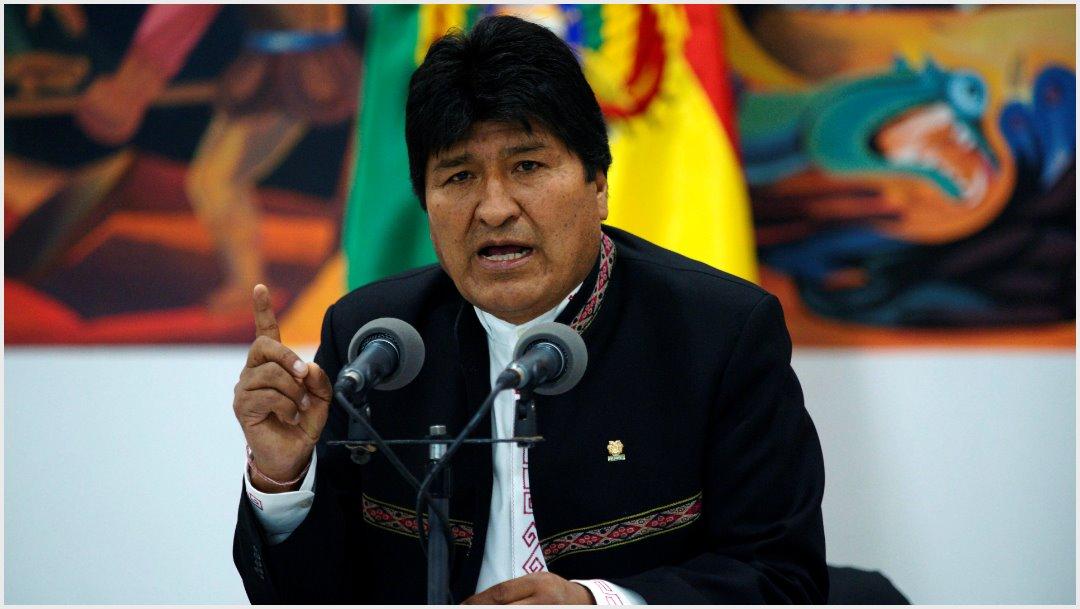 Imagen: Evo Morales habló de la orden de aprehensión en su contra, 10 de noviemre de 2019 (Getty Images)