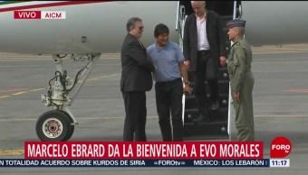 Evo Morales, expresidente de Bolivia, llega a México