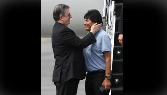 Foto: Evo Morales agradece a AMLO y México por salvarle la vida