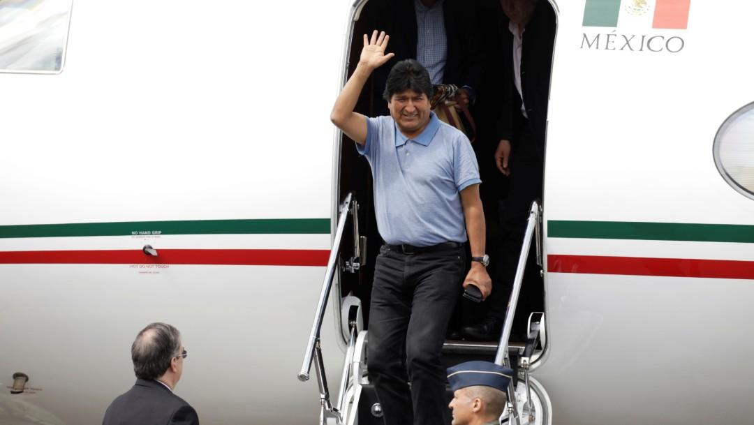 Foto: Evo Morales, expresidente de Bolivia, llega a México