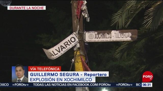 FOTO:Explosión de pirotecnia deja seis heridos en Xochimilco, 1 noviembre 2019