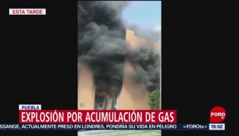 FOTO: Explosión por acumulación gas Puebla