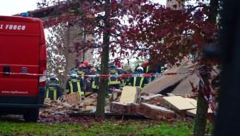 FOTO Explosión y derrumbe deja tres bomberos muertos en Italia