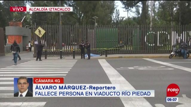FOTO: Fallece persona en Viaducto Piedad, Ciudad de México, 18 noviembre 2019