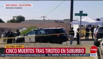 FOTO: Fallecen cinco tras tiroteo en casa de San Diego, California, 16 noviembre 2019