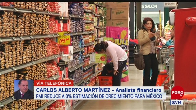 FMI reduce a 0% estimación de crecimiento para México