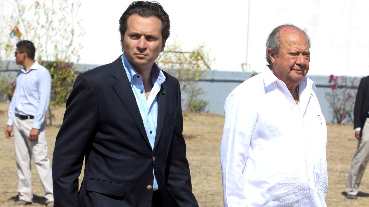 Foto: Exlíder sindical petrolero, Carlos Romero Deschamps, y el exdirector de Pemex, Emilio Lozoya. Cuartoscuro
