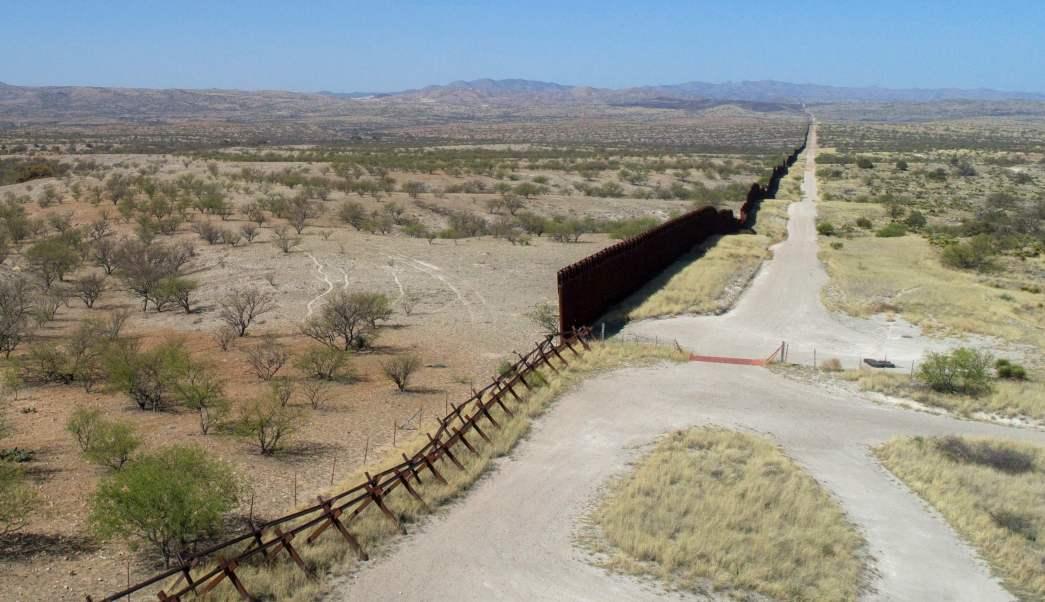 Foto: Foto de dron de la frontera de Nogales, en México, y Arizona, Estados Unidos, 7 de noviembre de 2019 (AP, archivo)