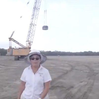 Video: Rocío Nahle muestra que no hay inundación en plataforma de Dos Bocas