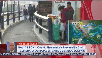 FOTO: Frente frío 12 provoca bajas temperaturas México