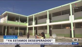 Fuerzas de seguridad en escuela de Oaxaca