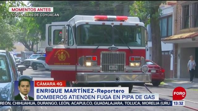 FOTO: Fuga gas genera movilización Coyoacán,