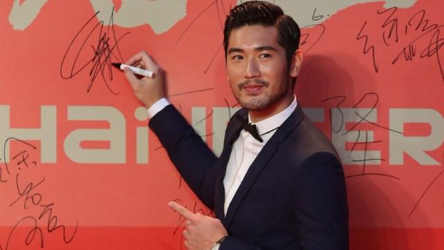 Foto: El modelo y actor taiwanés Godfrey Gao llega a la ceremonia de inauguración del 16 ° Festival Internacional de Cine de Shanghai, China, 15 junio 2019