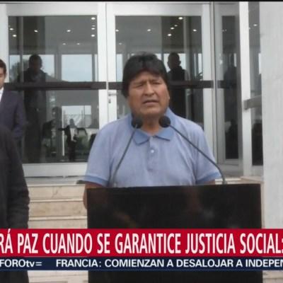 Gracias a México, me salvaron la vida, asegura Evo Morales