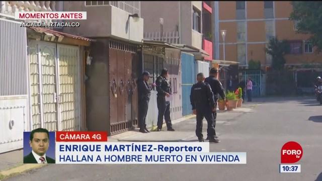 Hallan a hombre muerto en vivienda en Iztacalco, CDMX