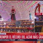 FOTO: Hidalgo busca romper récord altar Día Muertos más grande