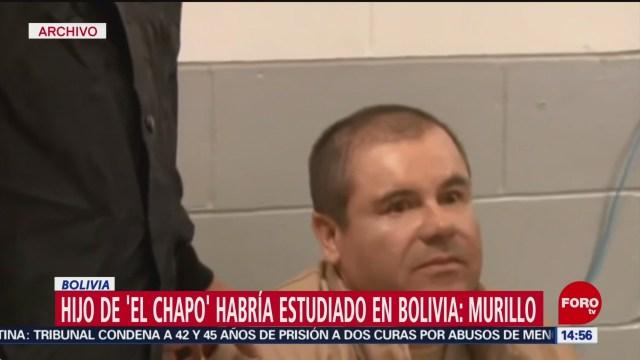 FOTO: Hijo Chapo Guzmán habría estudiado Bolivia,