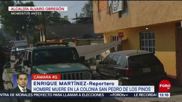 FOTO: Hombre fallece en la alcaldía Álvaro Obregón, 24 noviembre 2019