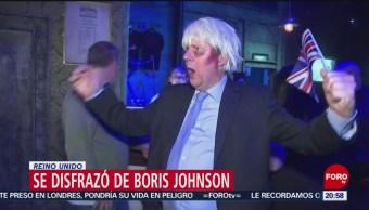 Foto: Hombre Disfraza Boris Johnson Celebrar Halloween 1 Noviembre 2019