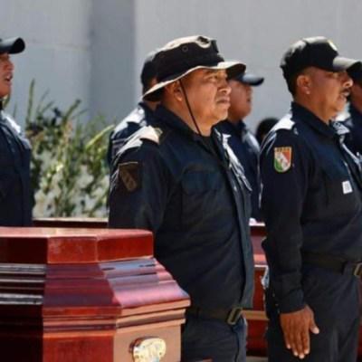 Homenaje a policías asesinados en Oaxaca