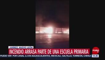 FOTO: Incendio arrasó con escuela Real San José Nuevo León
