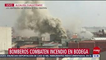 Foto: Incendio Centro CDMX Genera Enorme Columna Humo