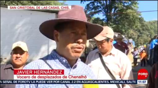 FOTO: Indígenas desplazados en Chiapas marchan para pedir ayuda humanitaria, 9 noviembre 2019