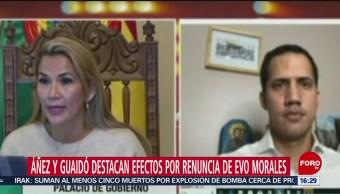 FOTO: Juan Guaidó y presidenta interina de Bolivia tienen videoconferencia, 16 noviembre 2019