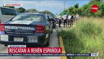 Foto: Española Rehen Quintana Roo Rescatada 3 de Noviembre