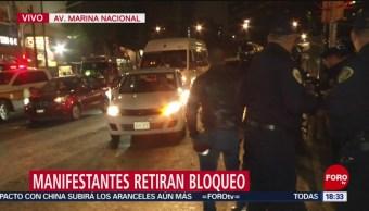 Foto: Liberan Parcialmente Circulación Marina Nacional Hoy Bloqueos 19 Noviembre 2019