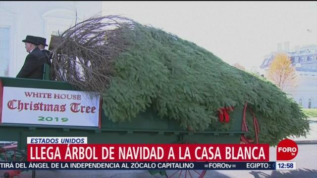 Llega árbol de Navidad de la Casa Blanca