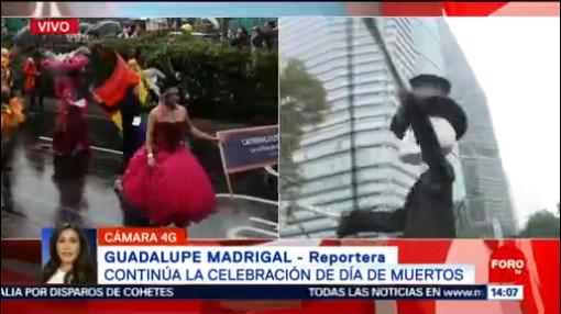 FOTO: Lluvia no opaca Mega Desfile de Día de Muertos, 2 noviembre 2019